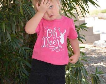ON SALE Oh Deer Shirt or Baby Bodysuit - Funny Toddler Shirt, Birthday Shirt, Kids Shirt