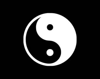 Yin Yang Decal Vinyl Car Decal Laptop Decal Sticker Phone decal sticker Car Sticker Window Decal Sticker Yeti iPad Tablet Phone Decal Wall
