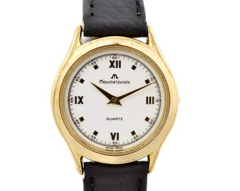Vintage Maurice Lacroix 32175 Gold Plated Quartz Ladies Watch 1566 - Offers Welcome!
