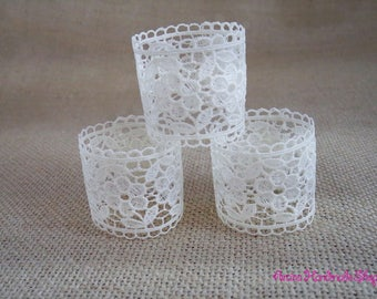 Table Setting, Lace Wedding Napkin Rings, Lace Wedding Table Decor, Napkin Rings,  Rustic Wedding Napkin Holders, Set of 150