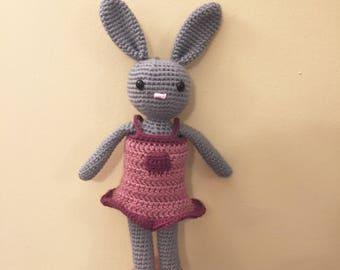 Belle the Bunny Amigurumi Crochet PDF pattern. Cute Crochet. Toy. Handmade