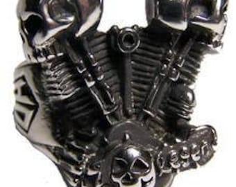 Piston Skull Engine Ring
