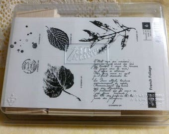 Stampin Up French Foliage unmounted rubber stamps set of 6