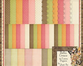 On Sale 50% Bella Grace Digital Scrapbook Papers - Digital Scrapbooking
