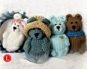 Loom Knitting PATTERNS Toys Doll Amigurumi Tiny Dolls | Teddy Bear - Includes Video Tutorial by Loomahat