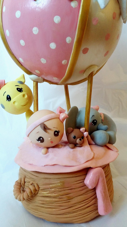 Hot Air Balloon Cake Topper Baby Shower Cake Topper Hot Air