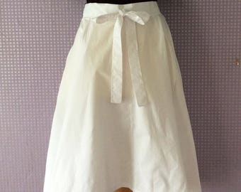White summer high low hem bow detail vintage skirts