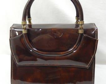 1950's - 60's Delicato by Markay Patent Leather Handbag