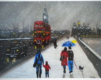 Snow in Westminster (Limited Edition Print, signed and numbered by the artist)