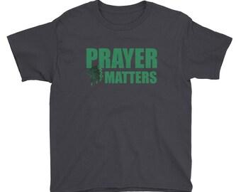 Youth Ohio West Branch High School Prayer Matters Shirt Basketball Faith Church Christian Catholic Jesus Saves Teacher Student Gift T-Shirt