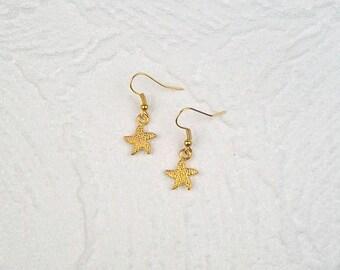 Earrings Starfish gold Maritim