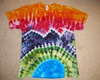 tie dye shirt, landscape, mountains, Colorado,Earth Day shirt