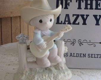 Precious Moments Hallelujah Country Cowboy Figurine Heart 1996 Symbol Retired
