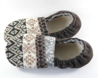 Easter Gift for Husband- Hygge Gift- Wife Gifts- Dad Gifts- Teen Mens Gift- Cozy Gifts- College Student Gift- Wool Slippers- Last Minute