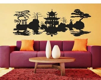 Asian Wall Decal Etsy - Vinyl wall decals asian