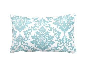 SALE | 30% OFF: Blue Pillow Cover Blue Throw Pillow Cover Blue Lumbar Pillow Damask Pillows Decorative Pillow 12x18 12x20 12x22 12x24 14x14
