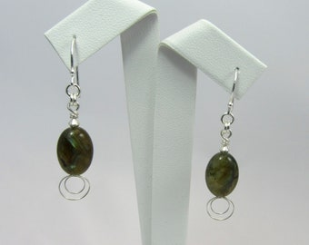 Fire Labradorite earrings