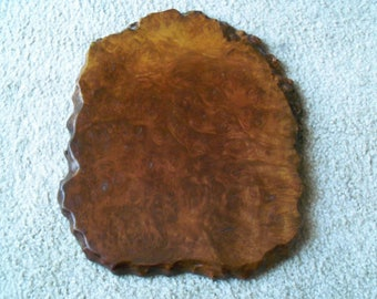 Vintage  Natural Finish Light and Dark Wood Slice to Display a Sculpture, Collectibles or Trivet