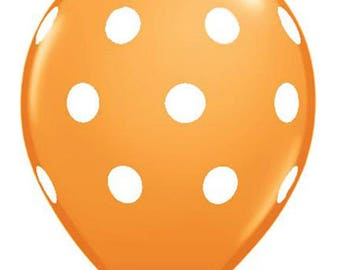 16 inch Polka Dots latex balloon- Orange