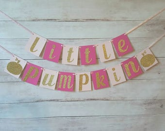 Little Pumpkin Banner, Little Pumpkin Decorations, Little Pumpkin Birthday, Little Pumpkin Baby Shower, Pumpkin First Birthday Decorations