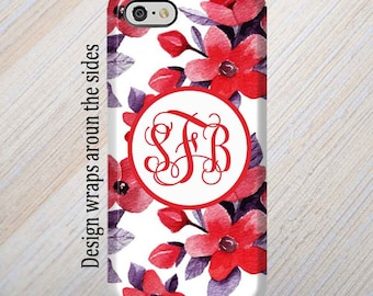 iPhone X Case, iPhone 6 Case, Monogram, iPhone 8 Case, iPhone 7 Case, Floral, iPhone 8 Plus Case, Galaxy S8 Case, Samsung Galaxy Case