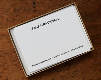Personalised Stationery - Copperplate Gothic