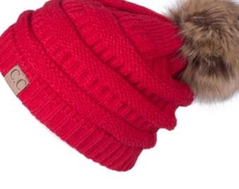 Pompom Beanie Winter Hat