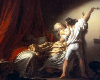 """The lock"" Fragonard placemat"