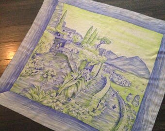 Large and Detailed 10 Momme Brico Silk Scarf