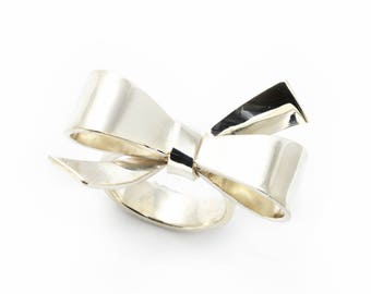 Bow ring , silver ring, silver jewellery, silver bow ring, solid silver ring, handmade silver ring