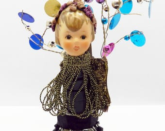 Mixed Media Doll Assemblage Art, Hummel Doll Head Art, Hummel Gift, Doll Lover Gift, Altered Doll Art, Unique Gift, Home Décor, Fun Gift