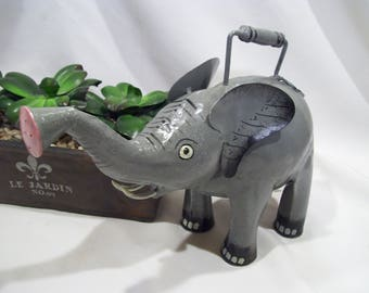 Elephant Metal Watering Can Metal Watering Can for the Garden Unique Watering Can