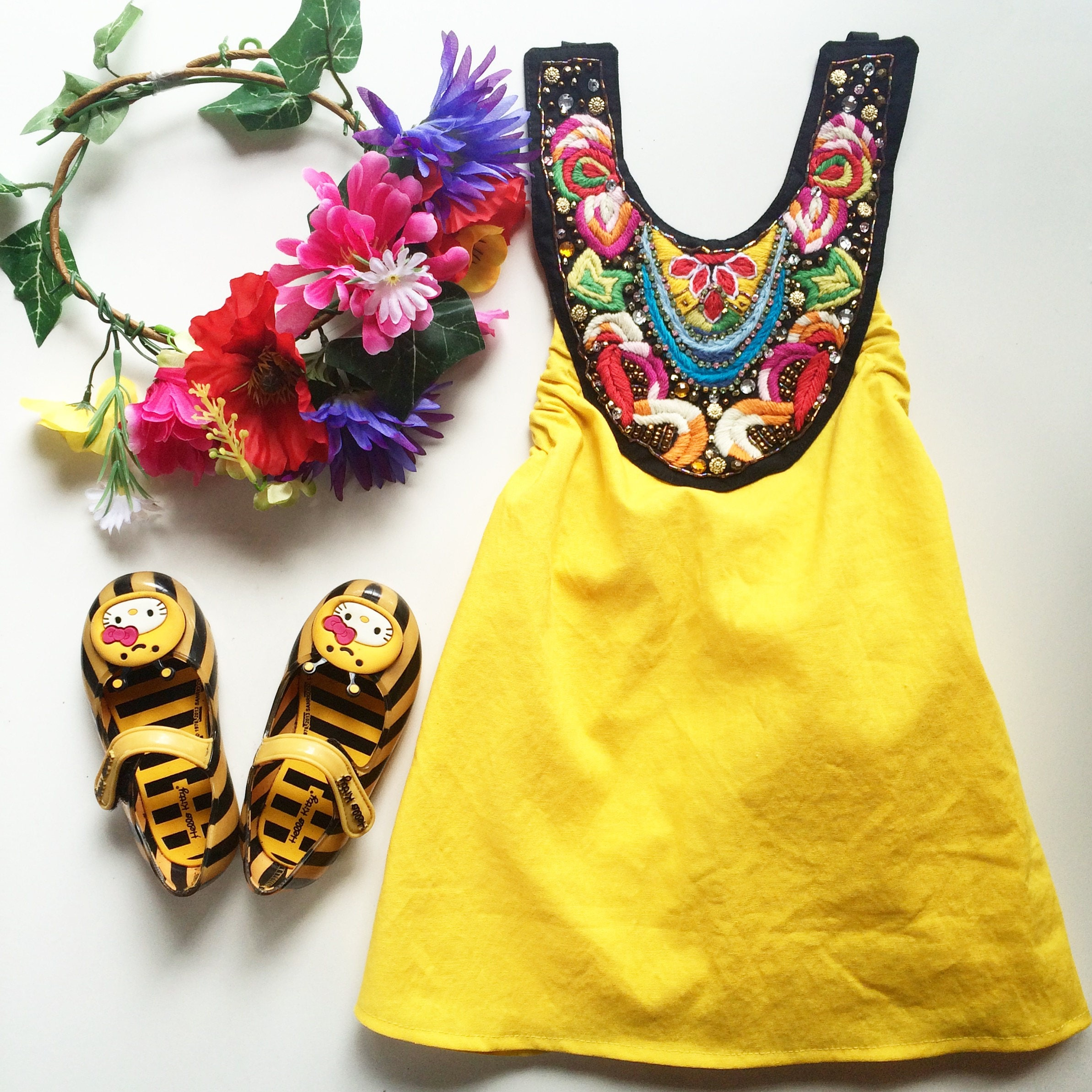Baby Girl Baby Dress Boho Dress Baby Romper Birthday Girl Beach
