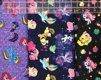1/2 Yard My Little Pony Fabric / MLP Fabric /  Fabric By The Yard