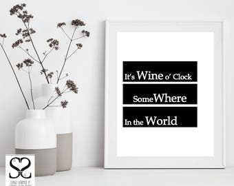 Typography | Digital Download | Digital Art | Digital Prints | Typography Wall Art | Typography Print| Downloadable Prints | Wine