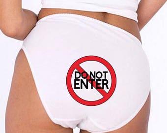 Bachelorette Lingerie, Gag Gift Underwear, Do Not Enter Underwear, Funny Lingerie, Bachelorette Party, Bachelorette Party Gift, Funny Panty