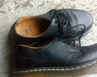 Black leather dr martens womens 5uk 7us