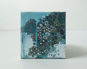 Five: Tiny Abstract Painting