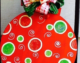 Ornament door hanger, ornament door sign, family ornament door hanger, family ornament sign, christmas door hanger, christmas ornament sign