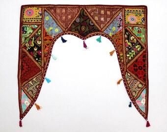 Handmade Window Door Valance Interior Decor Ethnic Gypsy Hippy Hippie Toran Pelmet Topper Drapery Top Hanging Tent Bohemian Art L884