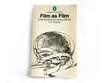 Film as film - V F Perkins, Pelican books, film theory book, film student gift, film buff gift