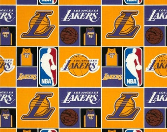 NBA Los Angeles Lakers Basketball Sports Pillowcase Dress & Fabric Hair Bow Clip