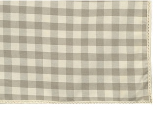 Square tablecloth fabric country 150X150cm ecru with lace