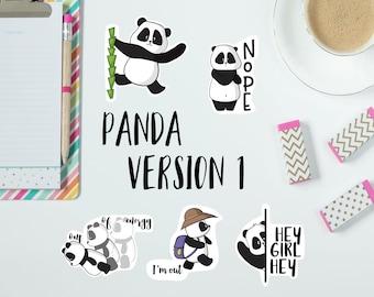 Panda Die Cuts | Panda Version 1 Die Cuts | Cute Panda Die Cuts | Planner decoration | Planner Die Cuts |  |TN | Travelers Notebook