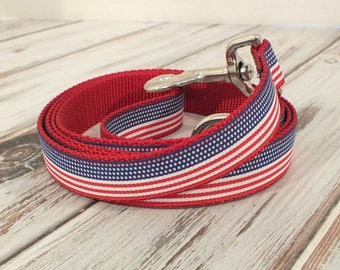 American Flag Dog Leash, americana, flag