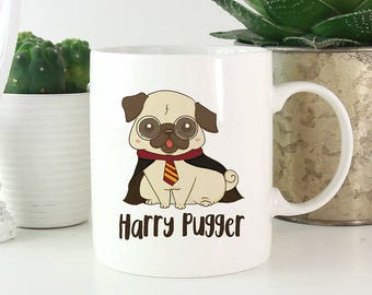 Harry Pugger Pug Coffee Mug, Dog Coffee Mugs, Funny Coffee Mug, Dog lover gift Cup Mug