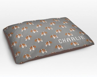 Personalized Cavalier King Charles Spaniel Dog Bed, Dog Beds, Large Pet Bed, Cute Dog Duvet, Custom Name Dog Bed Pillow, Dog Gifts for dog