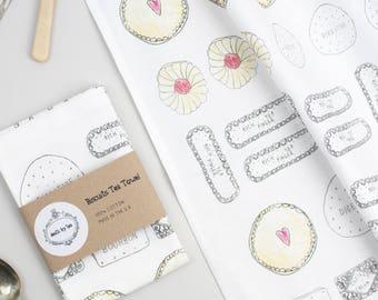 Tea Towel - Biscuits Tea Towel - Biscuit Gift - Gift for Biscuit Lover - Kitchenware-Kitchen Towel