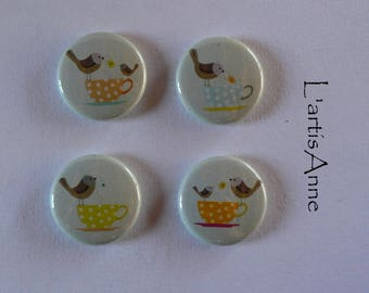 Bird Badges or magnets magnets.