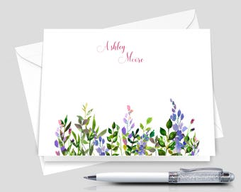 Custom Notecards, Personalized Note Cards, Personalized Stationary  _ Set of 12 with Envelopes _ Signature Collection _ HWM017